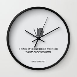 Click with people Wall Clock