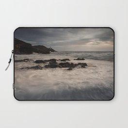 Sea foam on Bracelet Bay Laptop Sleeve
