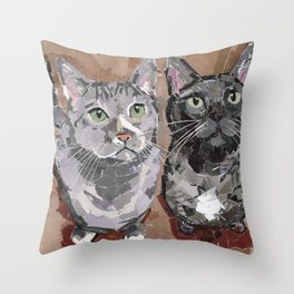 Stash and Foogers Throw Pillow