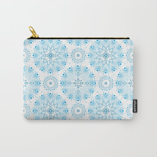 Winter . White and blue Carry-All Pouch