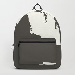 Washington is Home - White on Charcoal Backpack