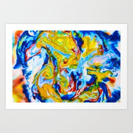 Milkblot No. 5 Art Print