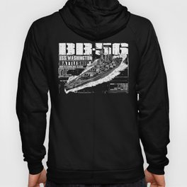 USS Washington (BB-56) Hoody
