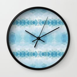 Triangles design in soft blue colors Wall Clock