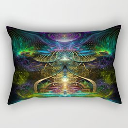 Neons - Fractal - Visionary - Manafold Art Rectangular Pillow