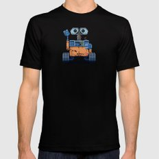 Wall-e Black Mens Fitted Tee SMALL