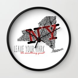 New York State Pride: Leave Your Mark, Do Something Great Wall Clock