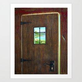 I AM the Door of the Sheep Art Print