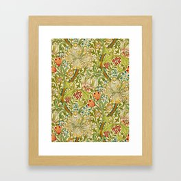 William Morris Golden Lily Vintage Pre-Raphaelite Floral Art Gerahmter Kunstdruck