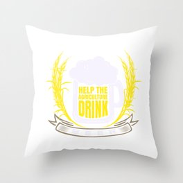 Save the Agriculture drink more beer, Farmer, Throw Pillow