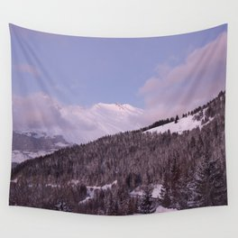 Purple Moutain Mont Blanc Wall Tapestry