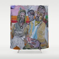 lebowski Shower Curtains featuring The Big Lebowski by Robert E. Richards