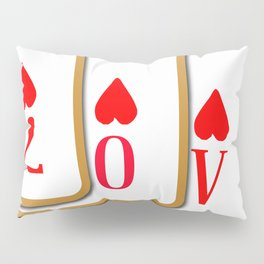 Love Playing Cards Pillow Sham
