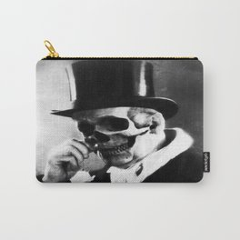 top hat skull portrait Carry-All Pouch