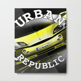 Sport Car & Paradise Metal Print