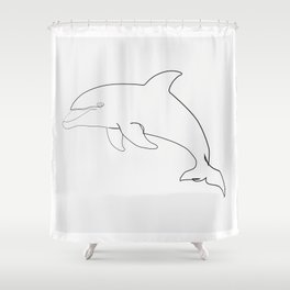 """""""Animals Collection"""" - Dolphin Shower Curtain"""