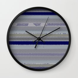 Denim with shreds Wall Clock