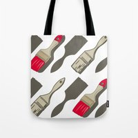 tool Tote Bags featuring Tool Time by Pattern Design