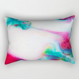 abstract ink waves i Rectangular Pillow