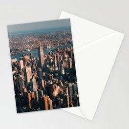 Birds eye view of Empire State Building Stationery Cards