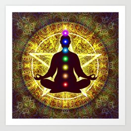In Meditation With Chakras - Spiritual I Art Print