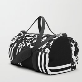 Black , white , mixed , patchwork Duffle Bag