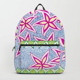 water flowers : pink Backpack