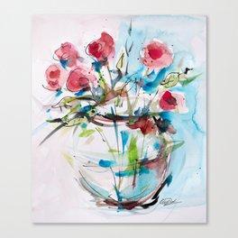 Roses (sketch) Canvas Print