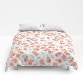 Retro flowers 001 Comforters