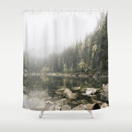 Pale lake - landscape photography Shower Curtain
