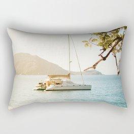 Fitzroy Island Catamaran | Cairns Australia Tropical Beach Sunset Photography Rectangular Pillow