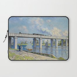 The Railroad Bridge at Argenteuil by Claude Monet Laptop Sleeve