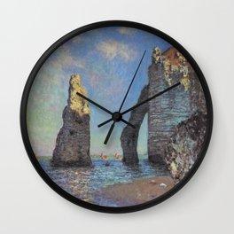 Claude Monet's The Cliffs at Etretat Wall Clock