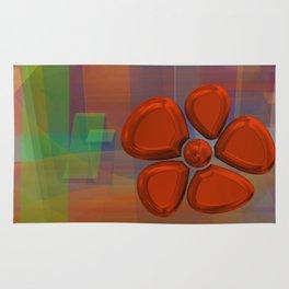 flower 6 red Rug