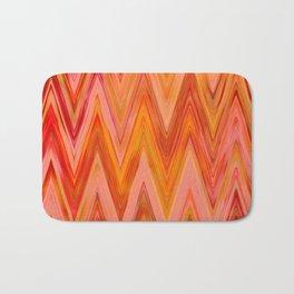 Coral geometric tribal aztec chevron zig zag stripes ikat pattern andes zigzag hipster print Bath Mat