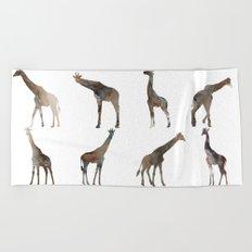 Giraffes Pattern Beach Towel
