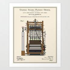 Beer Bottler Patent Art Print
