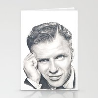 frank sinatra Stationery Cards featuring Frank Sinatra by Heather Andrewski