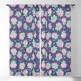Blush Bloom Peony Lavender Blackout Curtain