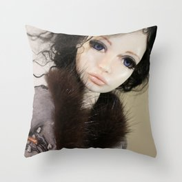 Once Upon A Doll Throw Pillow