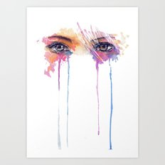 Rainbow Tears Art Print