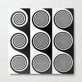 Liquorice wheels Metal Print