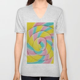 Pastel Rainbow Lollipop Unisex V-Neck