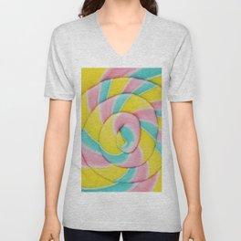 Pastel Rainbow Lollipop Unisex V-Neck
