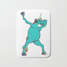 Unicorn Dabbing Bath Mat