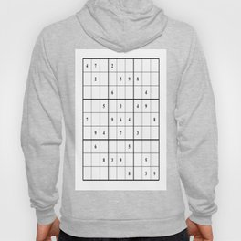 Sudoku Series: Medium Level - Mono Hoody