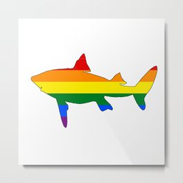 Rainbow Shark Metal Print