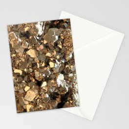 Golden Pyrite Mineral Stationery Cards