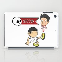 soccer iPad Cases featuring Soccer Skull by flydesign