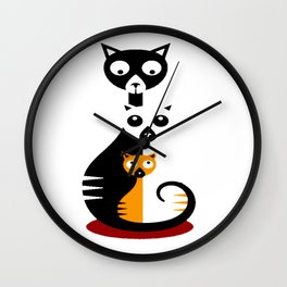 Cats Family Wall Clock